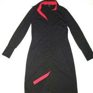 Express Classic Long Sleeve Column Suit Dress